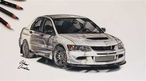 mitsubishi evo drawing mitsubishi evo 8 rs white usa car drawing