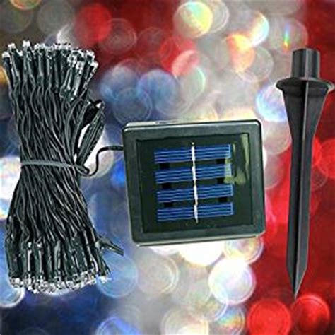 devida red white blue solar sting lights patriotic