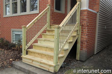Wooden Front Stairs Design Ideas Wood Stairs To Front Porch Interunet