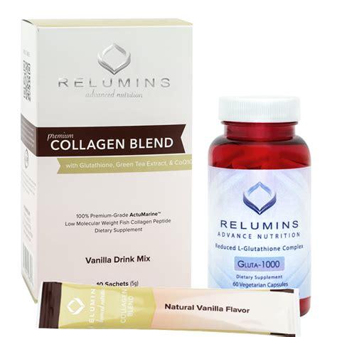 Ecer Sachet Collagen Whitening Drink Rc relumins premium collagen blend 10 sachets and relumins advance nutrition gluta 1000