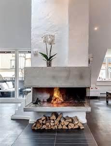 rustic modern fireplace home