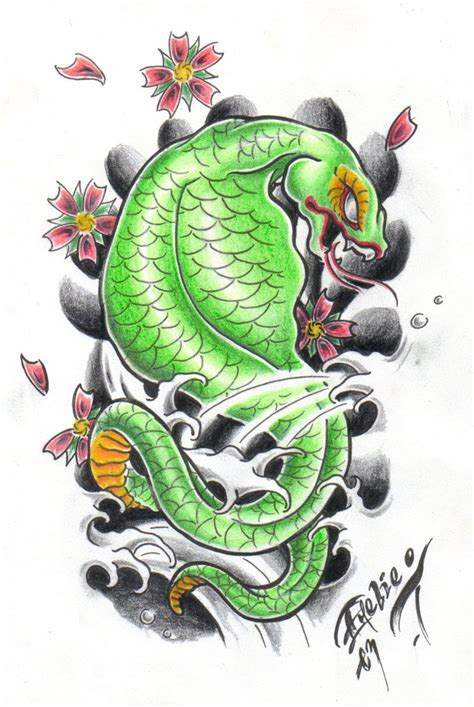 japanese snake tattoo design japanese snake by bettieboner on deviantart