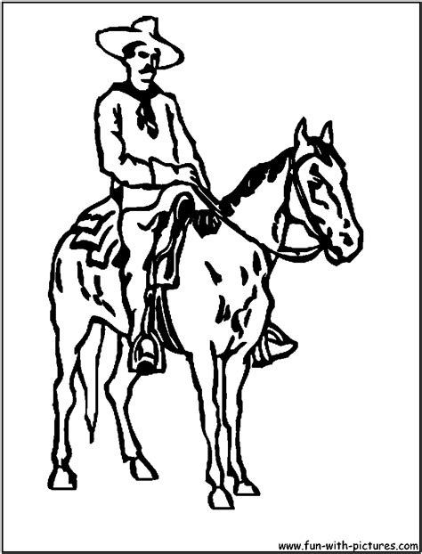 coloring pages of cowboys and horses cowboy and horses sketch coloring page
