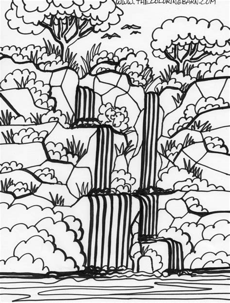 jungle landscape coloring pages rain forest trees coloring page coloring home