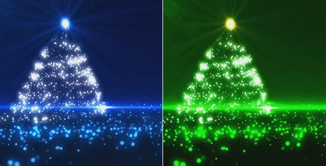 blue and green xmas lights blue and green tree 2 pack by marianst videohive