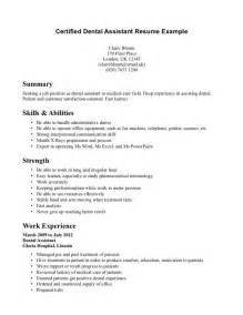 certified assistant resume resume format