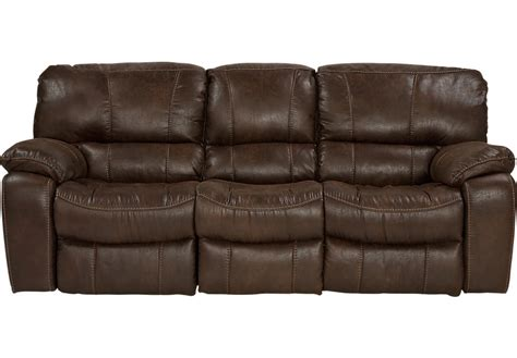 Cindy Crawford Home Alpen Ridge Brown Reclining Sofa Brown Leather Recliner Sofas