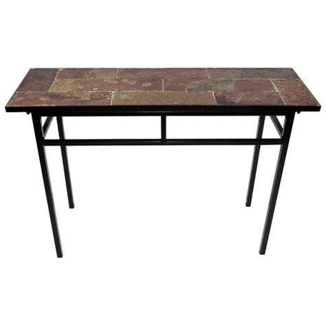 black metal sofa table slate top sofa table black metal base dcg stores