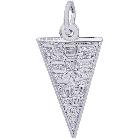 class of 2015 charm 14k white gold