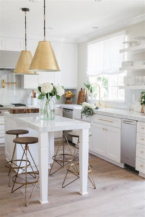 kitchen island chairs or stools wood and brass swivel counter stools transitional kitchen