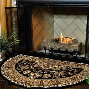 fireplace hearth rugs 46 half black and beige kashan hearth rug northline express