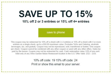 olive garden coupons smartsource olive garden coupons promo codes deals march 2018