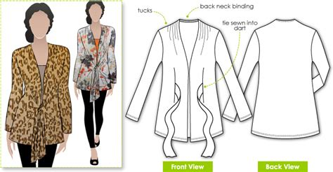 pattern review style arc stylearc terry tie cardi sewing pattern