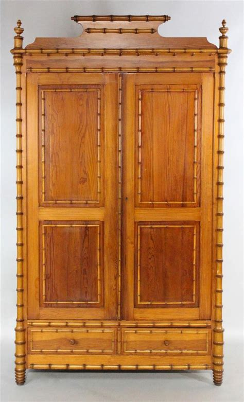 victorian armoire victorian style pine faux bamboo armoire