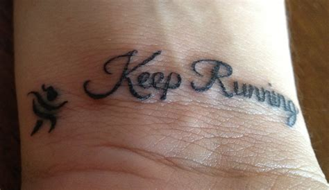 30 running inspired tattoos just run lah