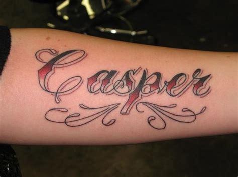 casper tattoo script lifsey