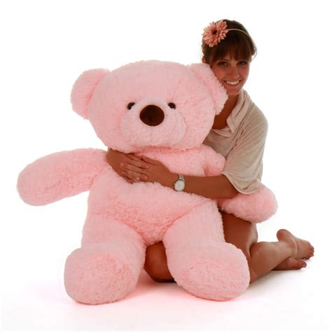 light pink teddy bear gigi chubs 38 quot big pink stuffed teddy bear giant teddy bears