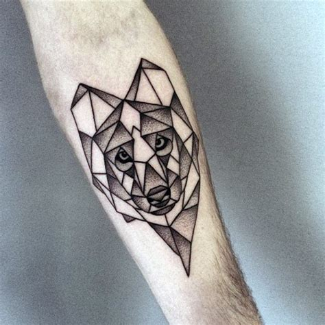 geometric wolf tattoo 90 geometric wolf designs for manly ink ideas