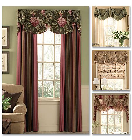 b5057 window treatments home decorating butterick