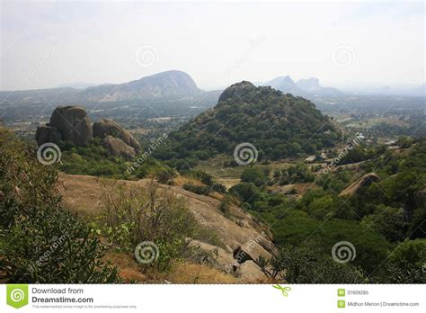 view of forest habitat royalty free stock photograph in mountains and the city beyond stock image image 31609285