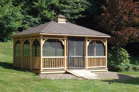 pavillon 2x4 octagon gazebos rectangle pavilions oval pavilions