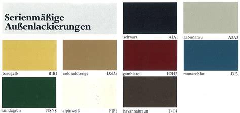 Audi Farbtabelle by Farben Und Lackcodes