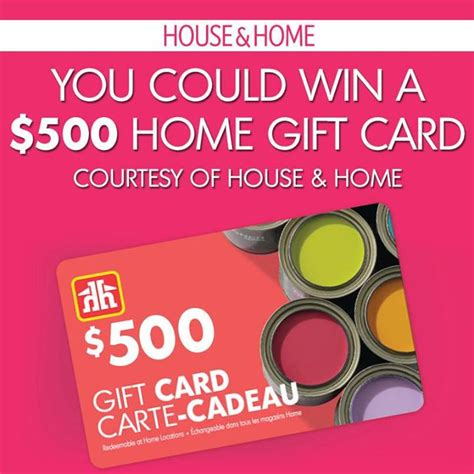 Gift Card Contest - house home gift card sweepstakes