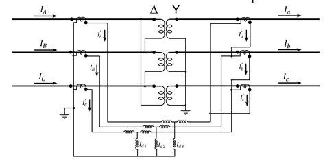 circuit diagram of transformer protection panel circuit