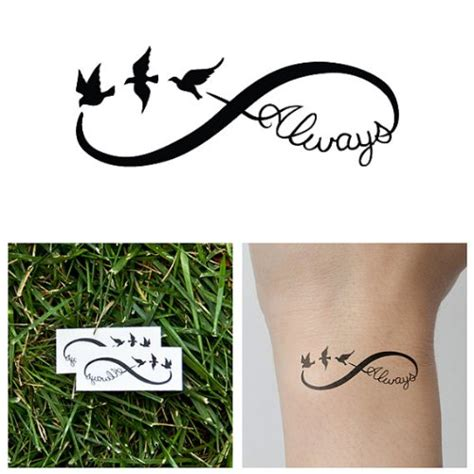 infinity bird tattoo tattify bird infinity sign temporary continuum