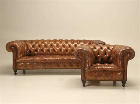 Antique Chesterfield Sofa For Sale Antique Leather Chesterfield Sofa In Original Leather For Sale At 1stdibs