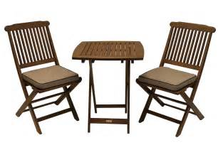 Deck Furniture Sets by Outdoor Eucalyptus 3 Piece Square Bistro Outdoor Furniture