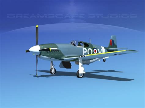 P 51 Mustang Autocad by 3d Model P 51 Mustang X