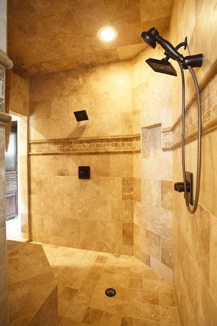 Master Bathroom With Walk In Shower Master Bath Shower Traditional Bathroom Houston By Marker Home