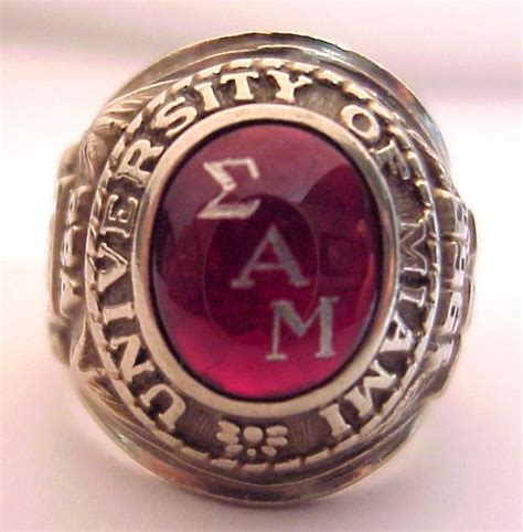 jewelry classes miami 1966 of miami 10k mans class ring sigma alpha