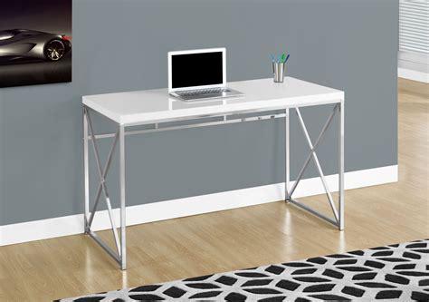 48 computer desk glossy white 48 quot computer desk 7205 monarch