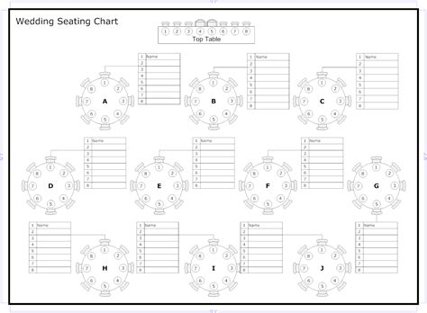 free printable wedding seating chart template reception seating charts 101