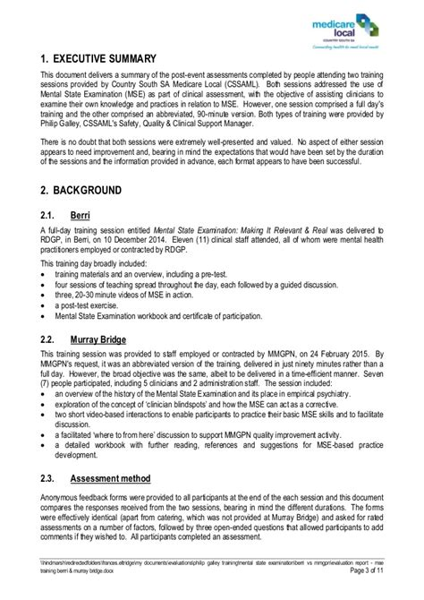 post event evaluation report template evaluation report mse berrri murray bridge