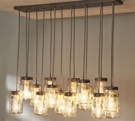 Hanging Ceiling Lights For Kitchen Simple Rustic Kitchen Lighting Ideas With Hanging From Ceiling Glass Jar Candle Holder