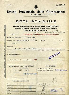 iscrizione alla di commercio ditta individuale isotessile museoweb dell economia varesina