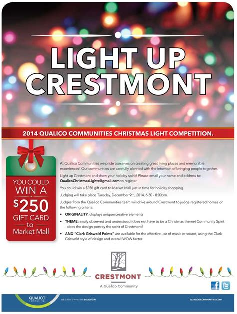 crestmont christmas light contest the crestmont