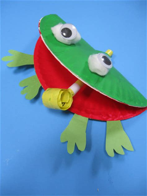 Frog Craft Paper Plate - 100 paper plate crafts for tgif this is