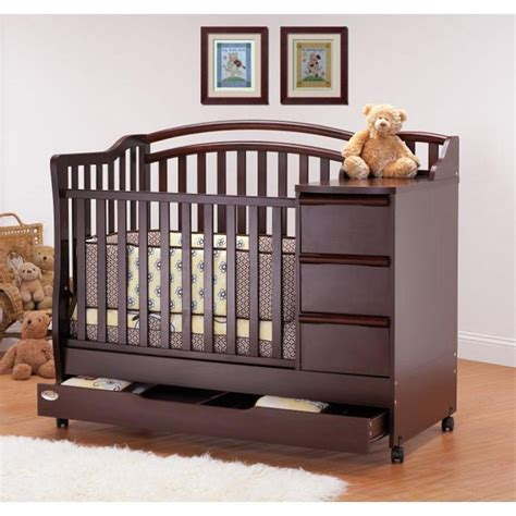 Mini Crib With Drawers Thinking About This One For The With Such Small Space Baby Baby