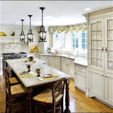 French Country Kitchen Island french country light fixtures kitchen
