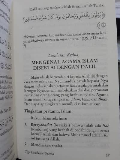 Matan 3 Landasan Utama buku saku 3 landasan utama matan dan terjemah toko muslim title