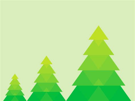 green christmas tree presentation ppt backgrounds