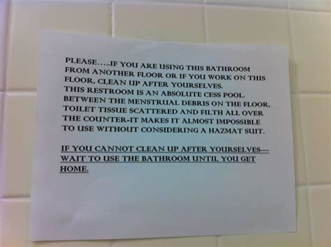 using the bathroom at work funny bathroom sign picture ebaum s world