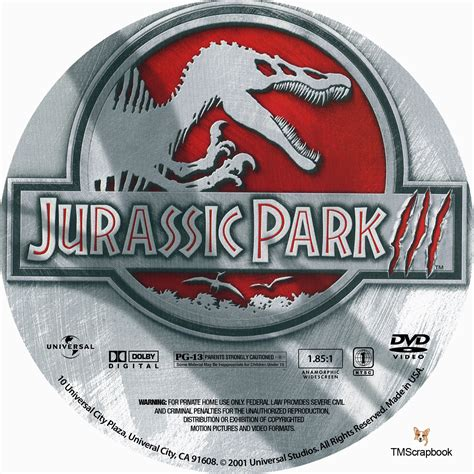 Cd Juta Jutassic Park Iii Satir jurassic park iii dvd label 2001 r1 custom