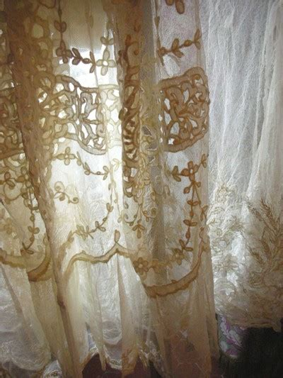 Vintage Lace Curtains An Education When The Leaves Begin To Change