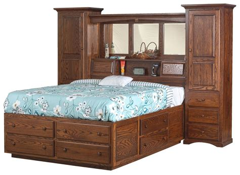 bed wall unit indiana trail wall unit platform bed from dutchcrafters amish