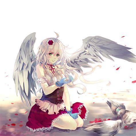 anime girl ipad wallpaper freeios7 ah96 angel anime girl art illust parallax hd